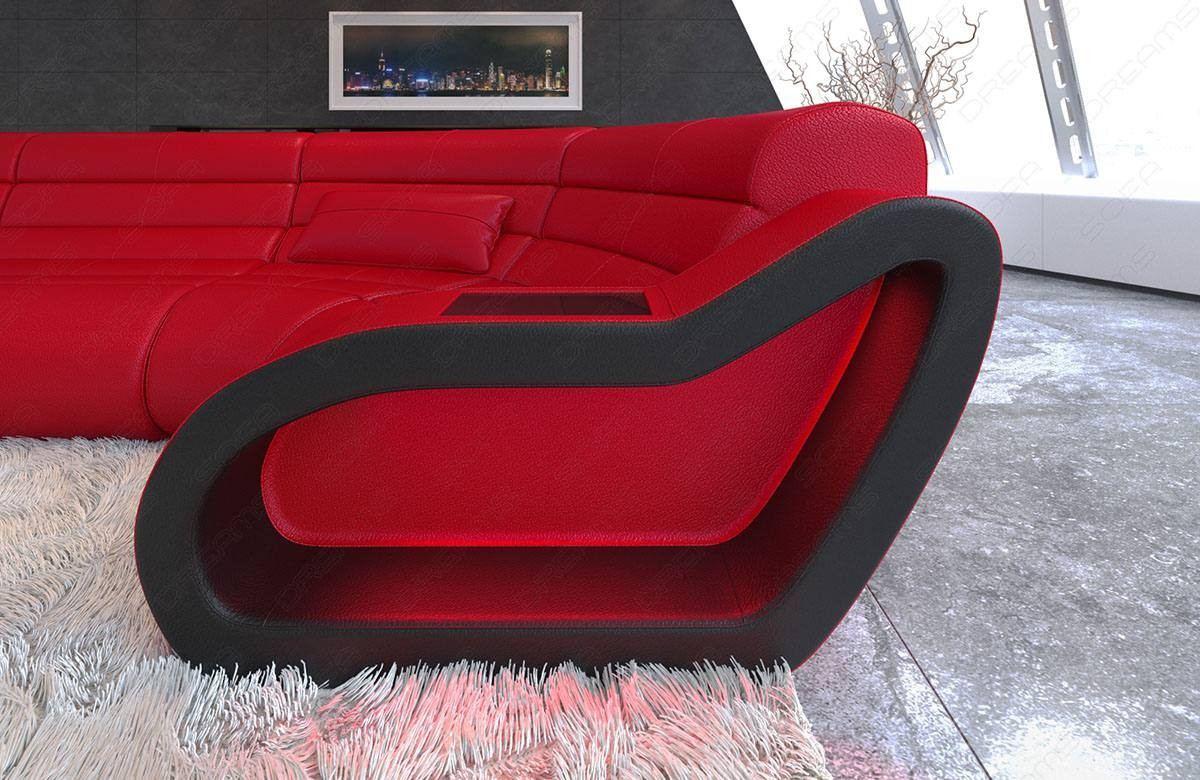 Leather sectional sofa Daytona U