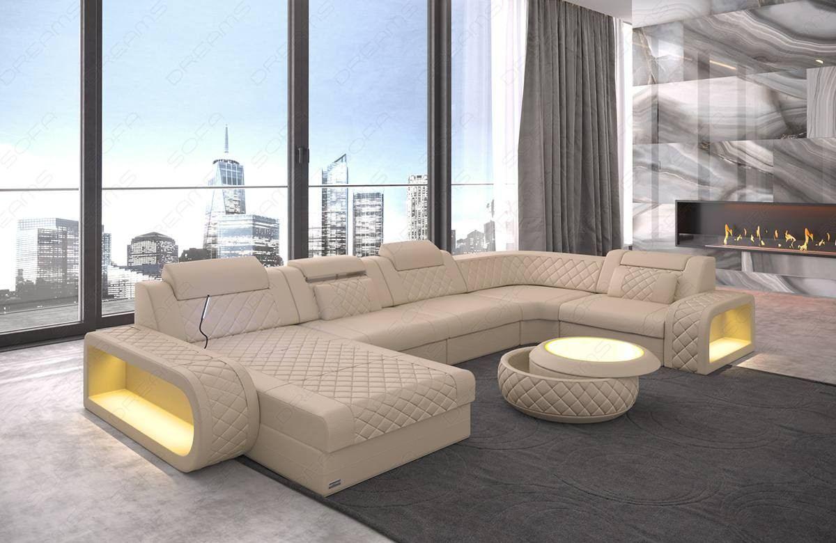 Leather sectional sofa Charlotte U Shape