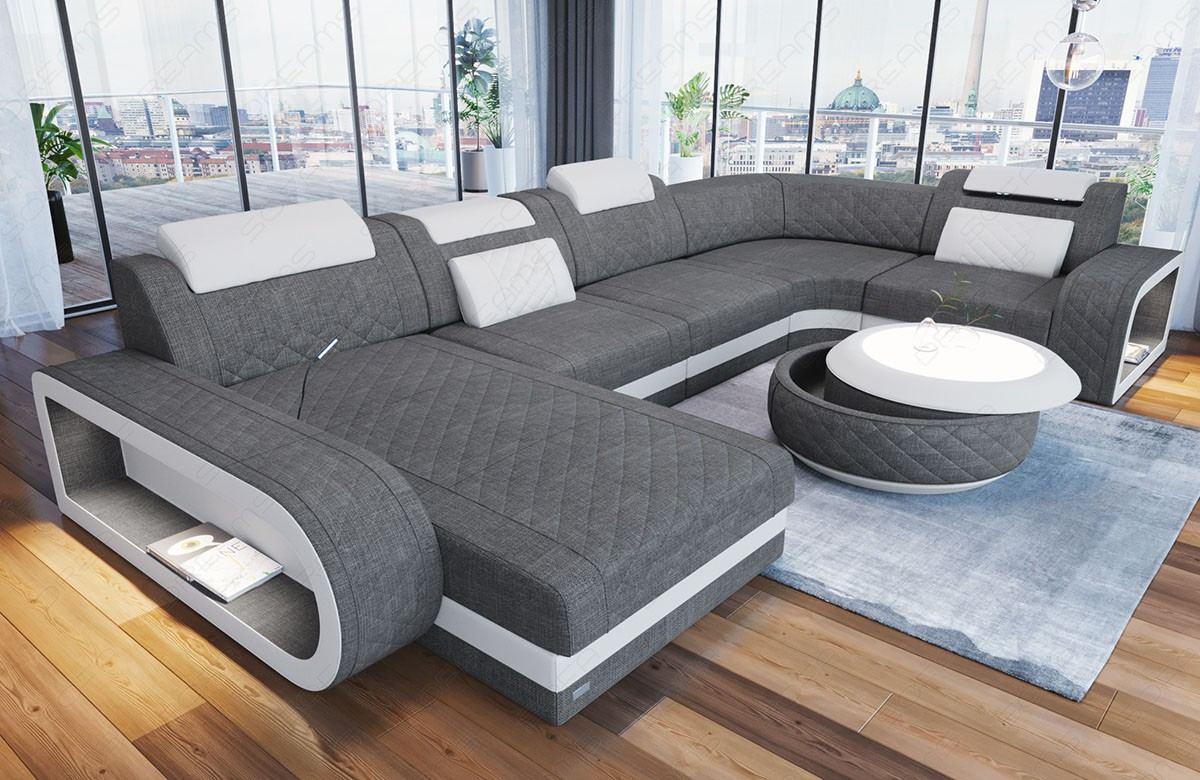 Sofa U Form Grau - Rafinovier