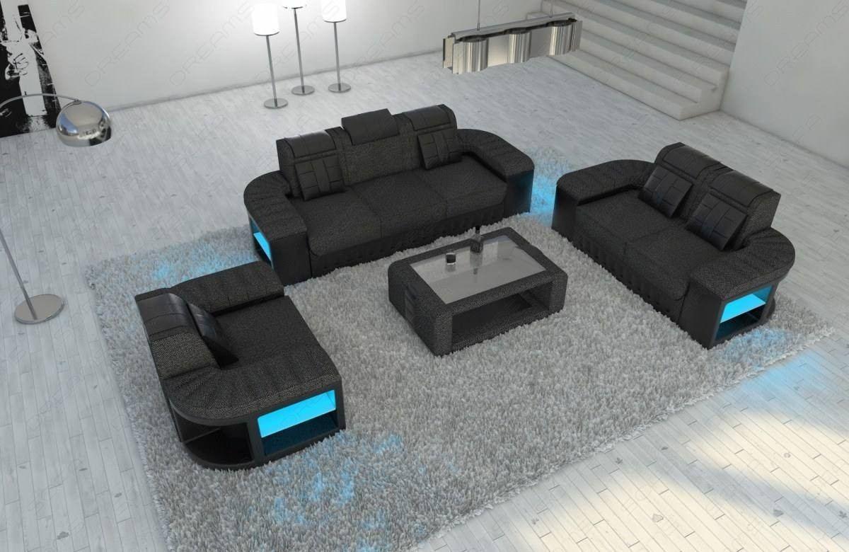 Fabric Sofa 3-2-1 Boston LED