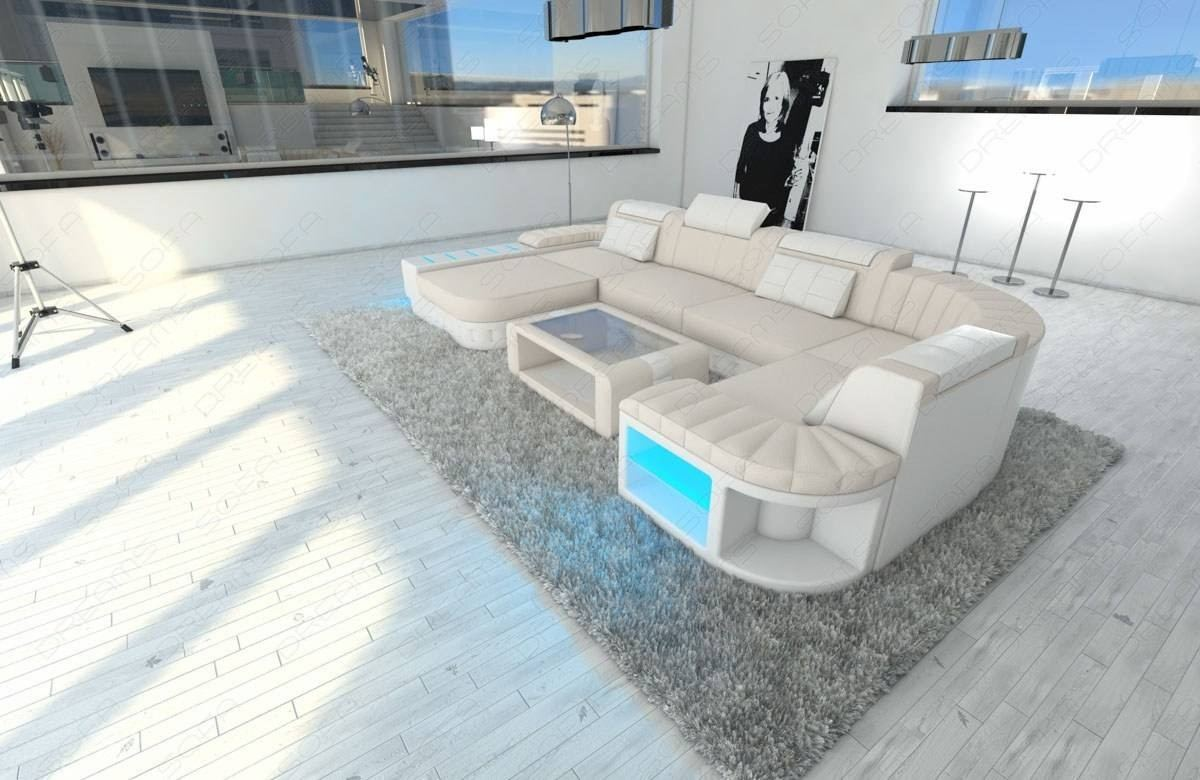 Admirable Big Fabric Sectional Sofa Boston U With Led Beutiful Home Inspiration Aditmahrainfo