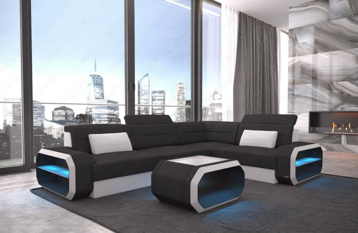 Modern Fabric Sectional Sofa Seattle LED