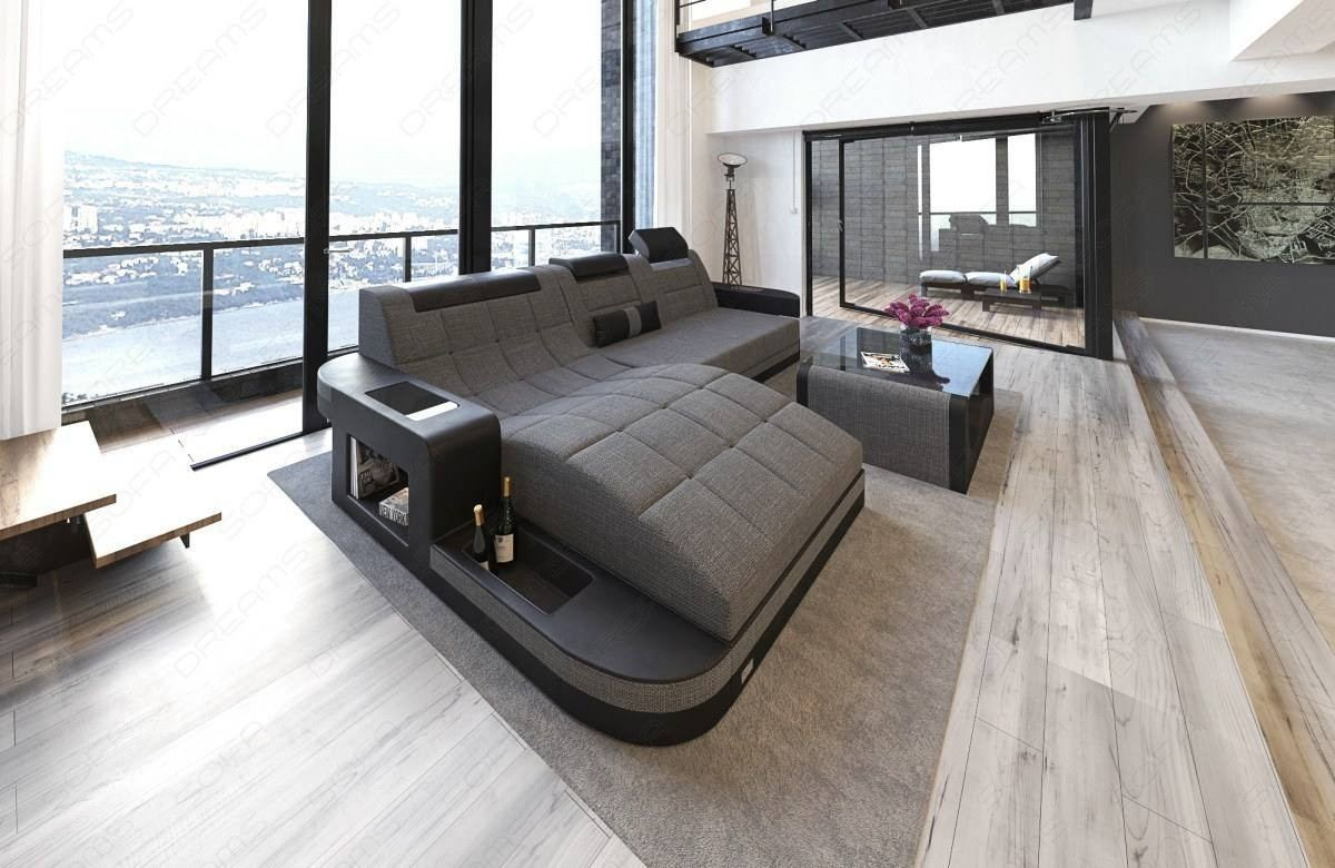Jacksonville L Shaped Fabric Sofa Sofadreams