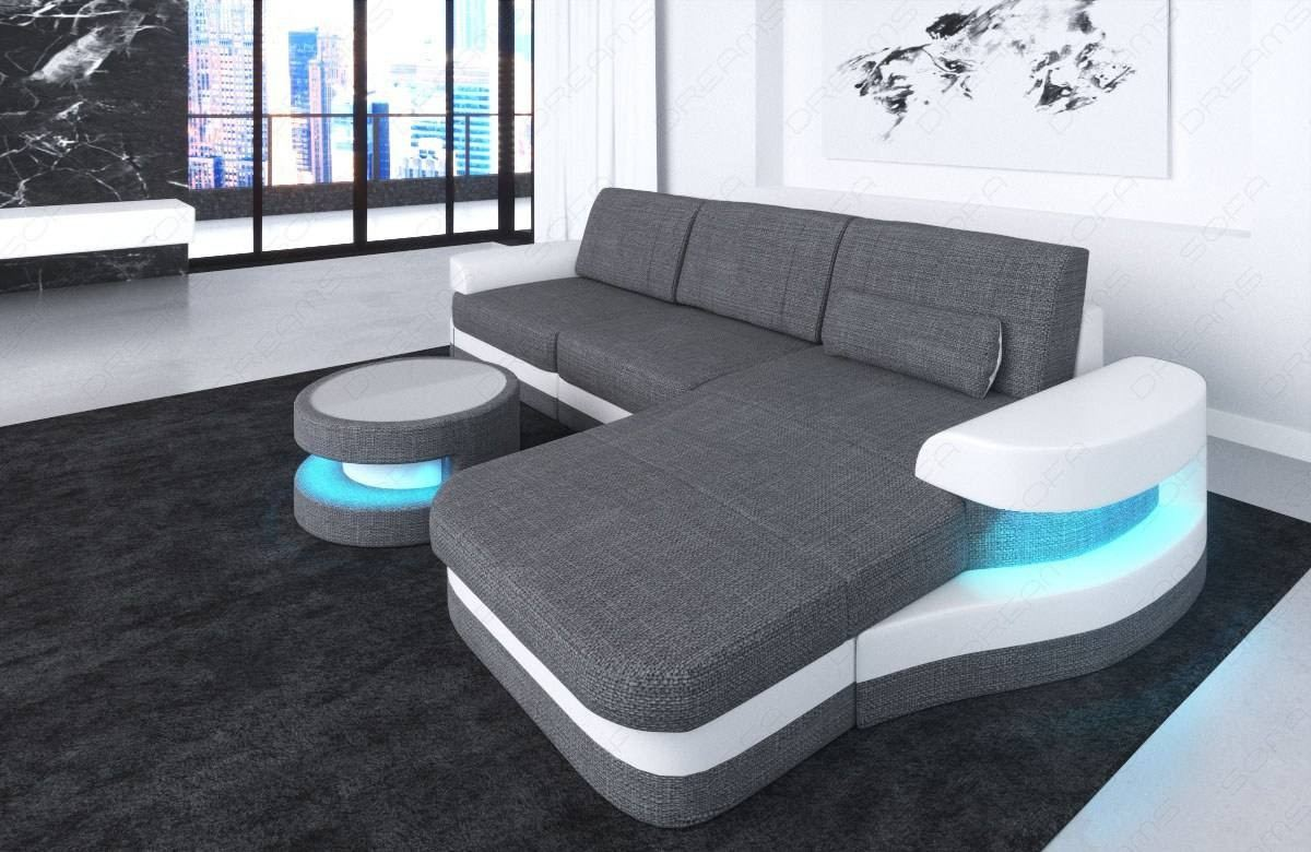 Fabric Sectional Sofa Tampa L Shape LED