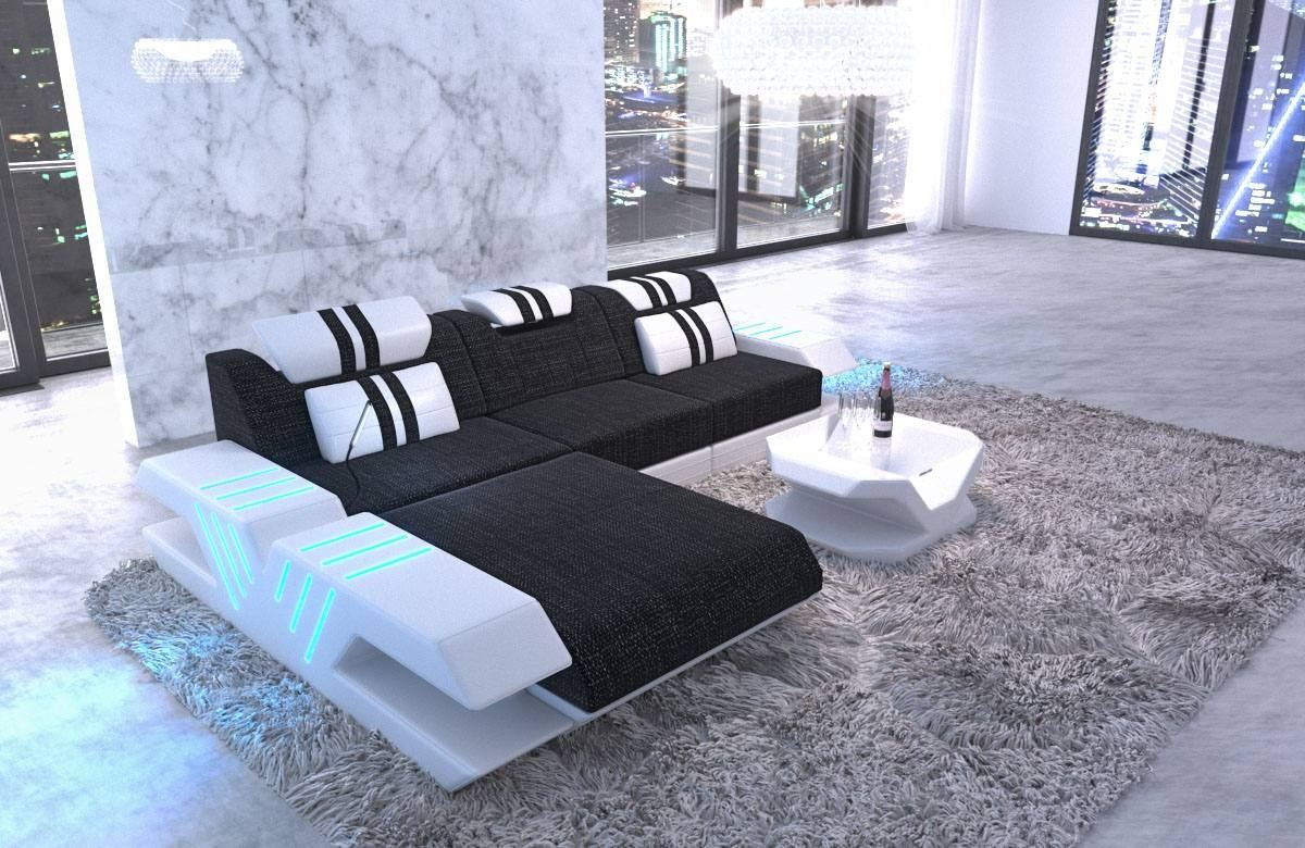 Fabric Sofa Beverly Hills L Shape with LED