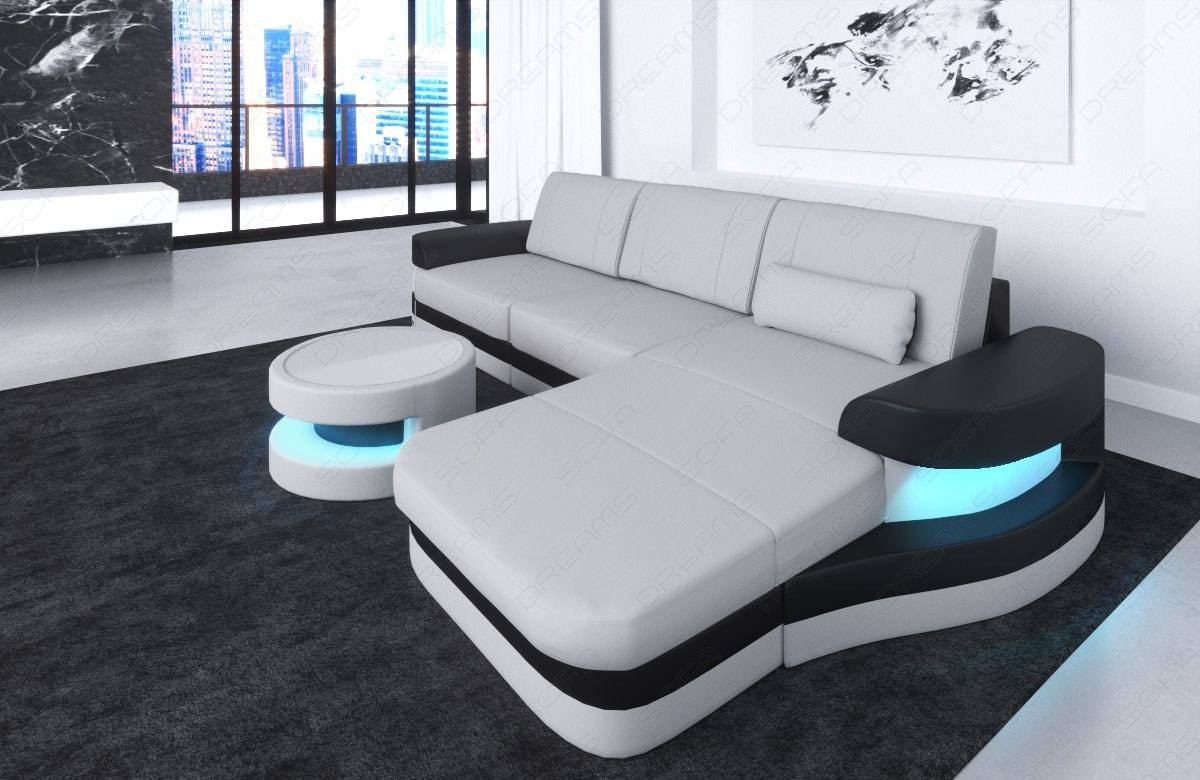 Fabric Sectional Sofa Tampa L Shape LED