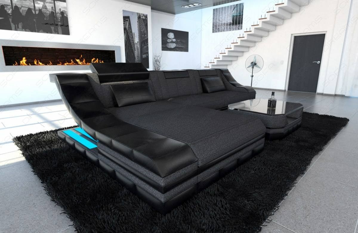 Fabric Design Sofa New York L with LED