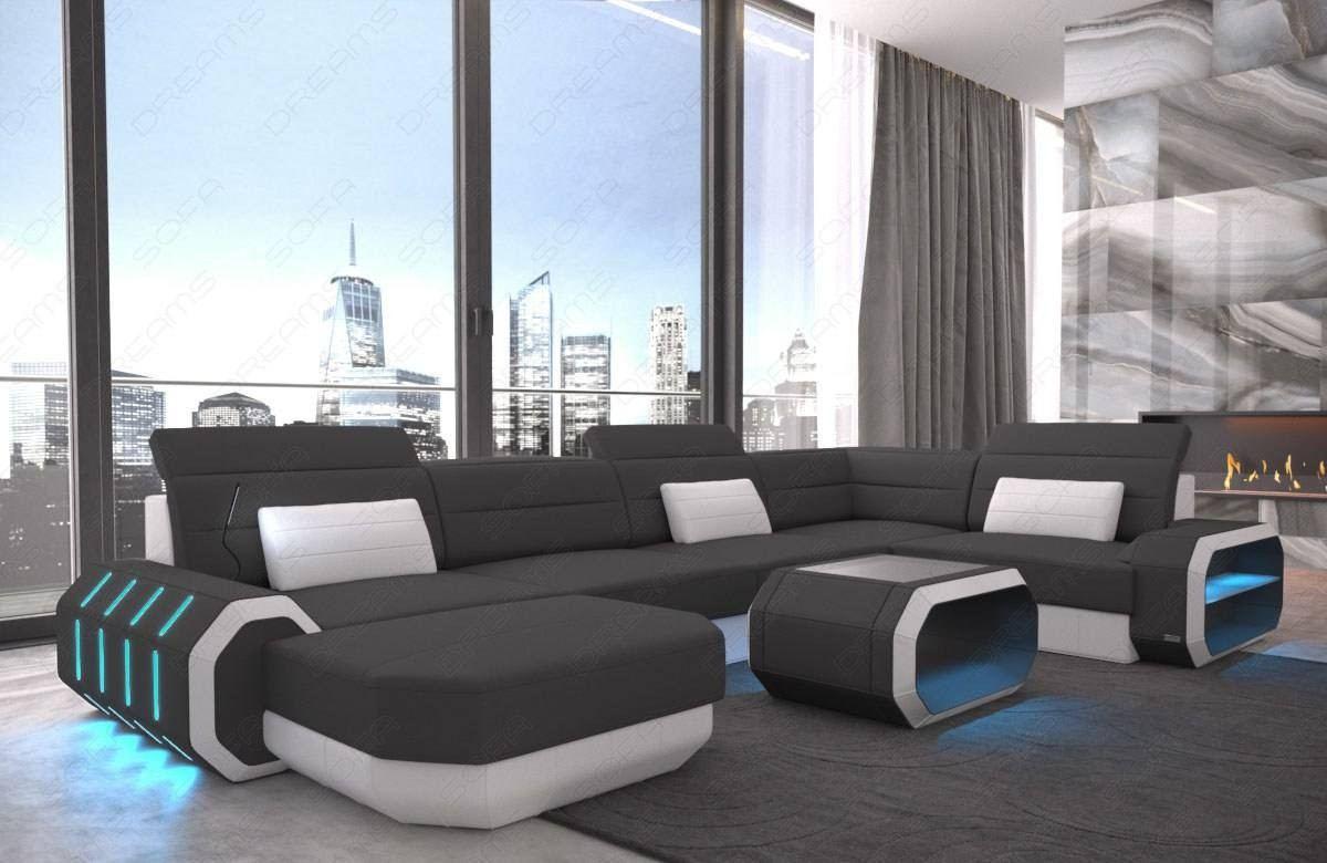 Modern Fabric Sofa Brooklyn U Shape