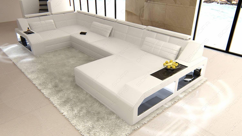 Sectional leather sofa Houston U Shape