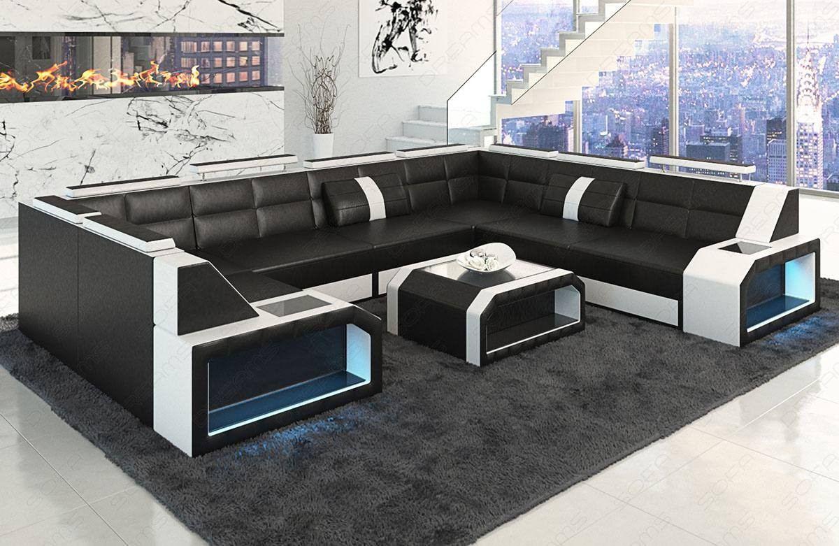 Sectional leather sofa San Jose U Shape