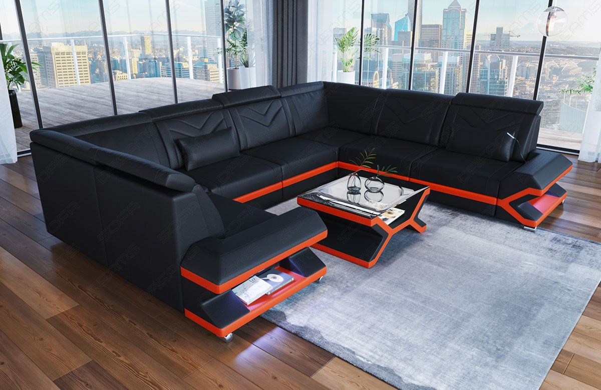 Design Leather Sofa Sacramento U Shape