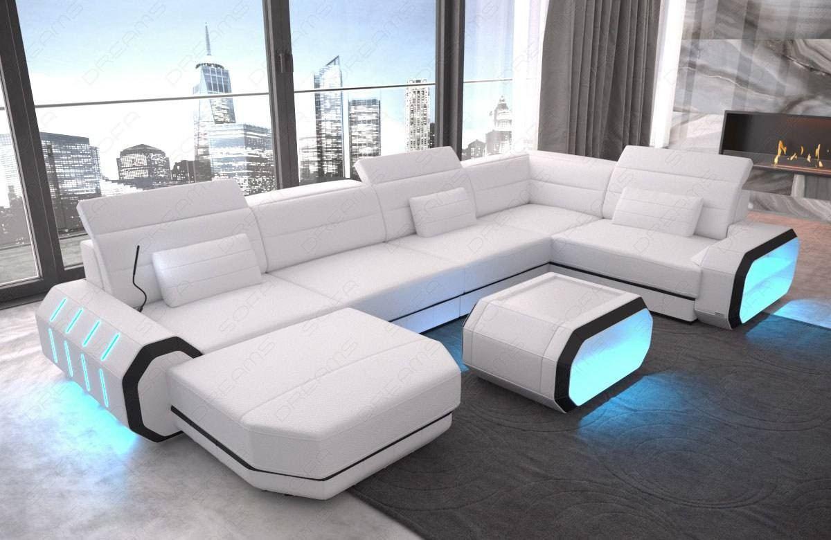 led furniture u shaped leather sofa sofadreams