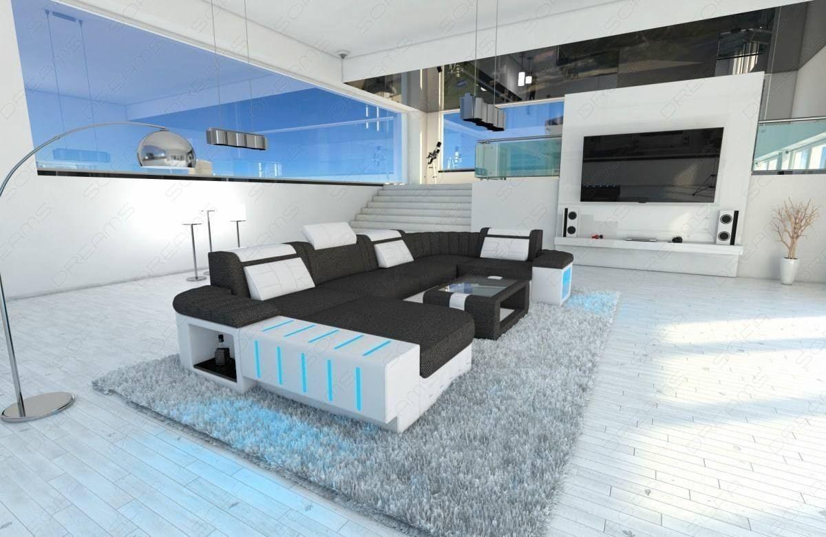 Phenomenal Big Fabric Sectional Sofa Boston U With Led Beutiful Home Inspiration Aditmahrainfo