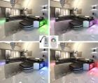 Modern Fabric Sofa Dallas XL with LED Lights