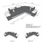 dimensions of the Design Sofa Philadelphia