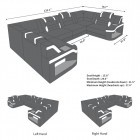 Dimension of the Manhattan U shape