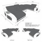 Fabric Sectional Sofa Palm Beach U Shape