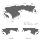dimensions sofa Palm Beach XL Shape