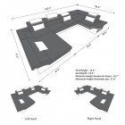 dimensions sofa Atlanta U Shape