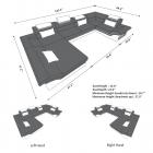 dimensions sofa Atlanta Shape