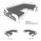 Sectional Fabric Sofa Houston XL
