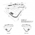 Design Sectional Jacksonville U Shaped with USB and LED Lights and the Design Coffee Table New Jersey