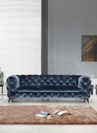 Sofa Set Julio Chesterfield blue