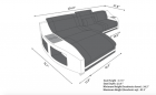 Design Sectional Palm Beach L Shaped dimensions