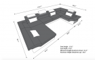 Design Sectional Atlanta XL dimensions