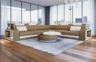 Fabric Sectional Sofa Phoenix L with Lights in sand-beige Mineva 6