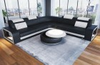 modern U Shaped sofa Phoenix L Shape black-white