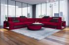 Fabric Sectional Sofa Phoenix L dark-red Sun Velvet Fabric SV1006