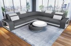 Fabric Sectional Sofa Phoenix L with Lights in grey Mineva 15