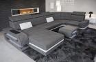 Sectional Fabric Sofa Gainesville U Shape grey Hugo 5