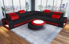 Fabric Sectional Sofa Phoenix L with Lights black-red Mineva 14