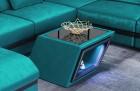 Design table Nashville in velvet - turquoise SV1013