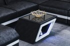 coffee table with LED lights Nashville in black SV1015