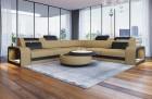 Fabric Sectional Sofa Phoenix L with Lights sandbeige Mineva 4