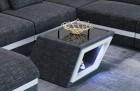 Fabric coffee table Nashville in Hugo 12 - darkgrey
