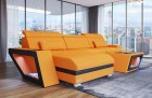 Modern Fabric Sofa Nashville L with Lights apricot Mineva 16