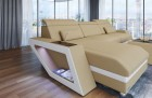 Sofa with Chaise Nashville L Microfibre beige Mineva 4