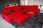 Sectional Fabric Sofa Gainesville U Shape red Mineva 20