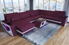 Fabric Sectional Design Couch Nashville U Shaped with Lights purple Mineva 13