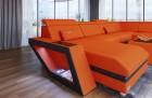 Modern Fabric Sofa Nashville U with Lights apricot Mineva 11