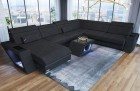 Fabric Sectional Sofa Nashville U with Lights black Hugo 14