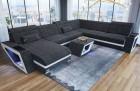 Fabric Sectional Sofa Nashville L with Lights darkgrey Hugo 12