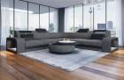 Fabric Sectional Sofa Phoenix L with Lights grey Hugo 5