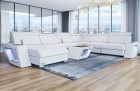 Sectional Sofa with Ottoman Nashville XL white