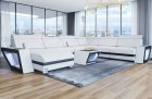 Corner Sofa Nashville XL modern white-black