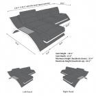 Leather Sectional Sofa Malibu L Shape